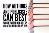 How Authors & Publicists Can Work With Bloggers