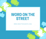 Word on the Street- 8/25/17